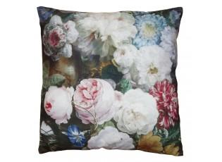 Sametový povlak na polštář s rozkvetlými květy Manon - 45*45 cm