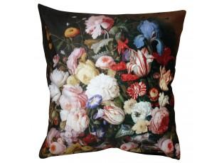 Květinový povlak na polštář se sametovým povrchem Manon - 45*45 cm