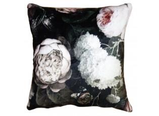 Květinový sametový povlak na polštář Manon - 45*45 cm