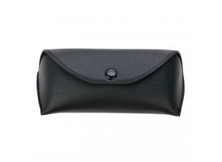 Černé zapínací pouzdro na brýle - 16*7 cm