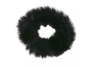 Černá chlupatá gumička do vlasů - Ø7cm