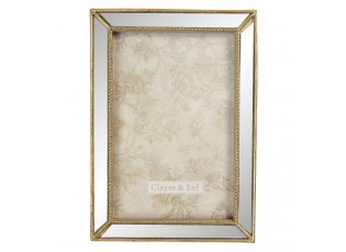 Zrcadlový fotorámeček se zlatými okraji - 12*2*17 cm / 10*15 cm