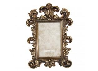 Antik zlatý fotorámeček s ornamenty - 18*2*27 cm / 10*15 cm