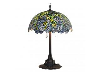 Stolní vitrážová lampa Tiffany Lilas – Ø 53*84 cm E27/max 3*60W