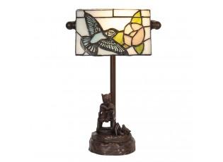 Stolní vitrážová lampa Tiffany s medvídkem - 17*15*28 cm E14/max 1*25W