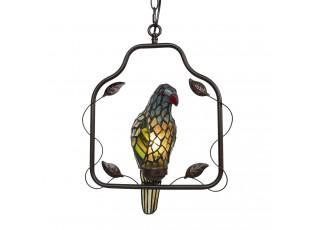 Závěsné vitrážové světlo Tiffany v designu papouška – 40*26*86 cm E14/max 1*25W