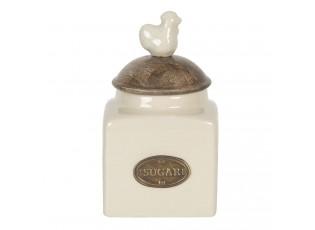 Keramická úložná nádoba na cukr Chick - Ø 9*17 cm