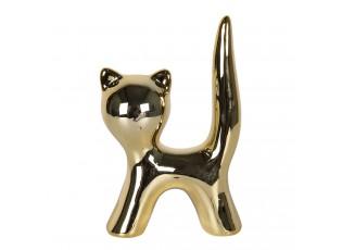 Zlatá dekorativní soška Kočka - 5*7 cm