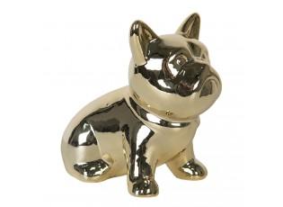 Zlatá dekorativní soška Pes - 12 cm