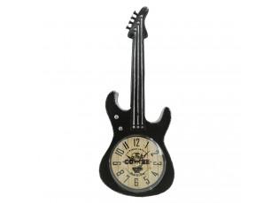 Vintage stolní hodiny v designu kytary - 13*4*35 cm / 1*AA