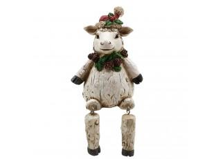 Dekorace sedící vánoční ovečka - 7*7*10 cm