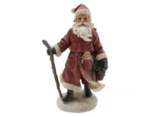 Dekorace Santa s holí - 13*9*21 cm