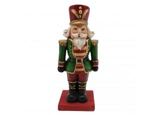 Vánoční dekorace figurka Louskáček s červeným kloboukem - 6*5*15 cm