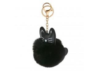 Přívěšek na klíče černá kočička