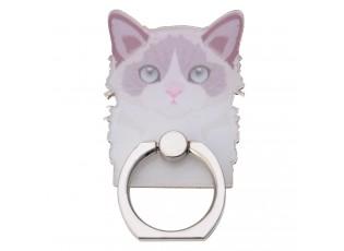 Prsten na mobilní telefon Cat Pink