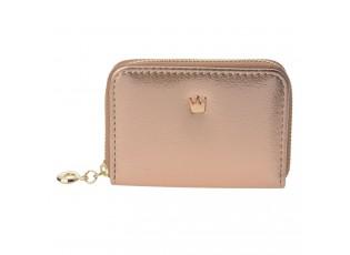 Krásná zlato růžová  módní peněženka.