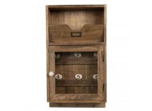 Dřevěná skříňka na klíče Carisa - 25*9*44 cm
