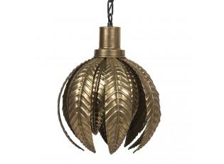 Zlaté závěsné světlo s motivem listů – Ø 33*43 cm