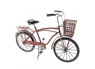 Retro model jízdního kola s košíkem - 32*20*12 cm