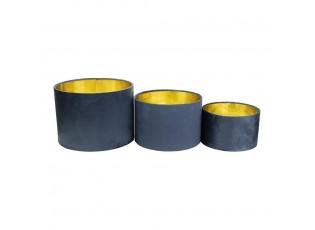 3ks sametové modré zlaté stínidlo Navy - Ø25*Ø30*Ø35cm/ E27