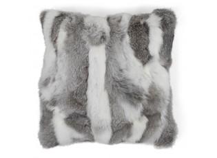 Polštář z králičí kůže Rabbi šedá mix - 40*40*10cm