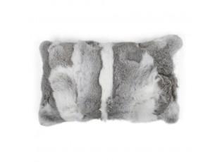 Polštář z králičí kůže Rabbi šedá mix - 50*30*10cm