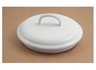 Bílé smaltované víko Ø16cm na mísu a kyblík 1.5L