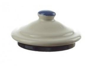 Krémové víčko k mlékovce s květy Flowers - 7cm