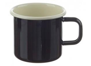 Černý smaltovaný hrnek Blacck - Ø8*8cm - 250ml