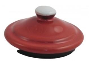Červené víčko k mlékovce s puntíky Red dot - 7cm