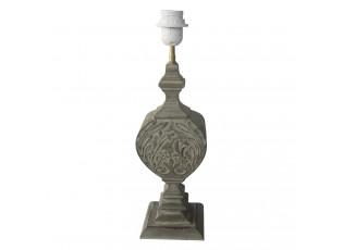 Šedá dřevěná noha k lampě Philippe - 13*13*43 cm E27