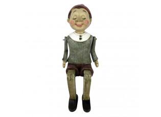 Dekorace sedící Pinocchio - 6*11*17 cm