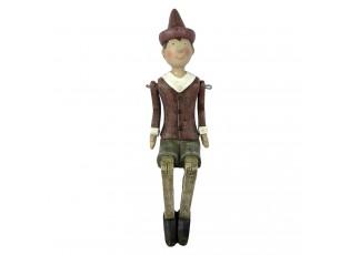 Dekorace sedící Pinocchio - 6*10*20 cm