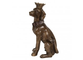 Dekorace sedícího psa s korunkou - 21*18*40 cm