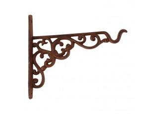 Závěsný litinový hák s ornamenty - 20,5 *2 * 18cm