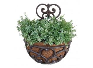 Nástěnný litinový květináč s ornamenty  - 29*16*37 cm