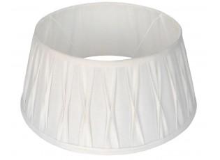 Bílé plisované stínidlo Riva wite - Ø60*27 cm / E27