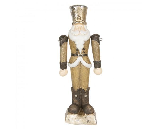 Vánoční zlatá soška Louskáček s kloboukem - 23*14*69 cm