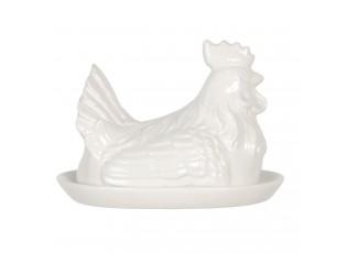 Keramická máslenka v designu slepice Campagne - 21*15*15 cm