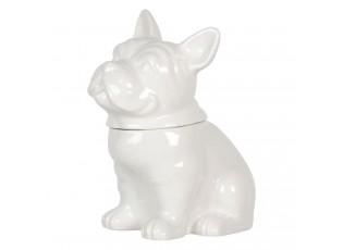 Skladovací dóza s víkem v designu psa Campagne - 22*15*24 cm