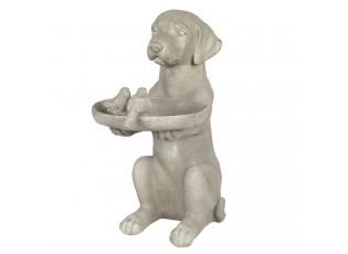 Dekorace psa s krmítkem pro ptáčky - 38*26*48 cm