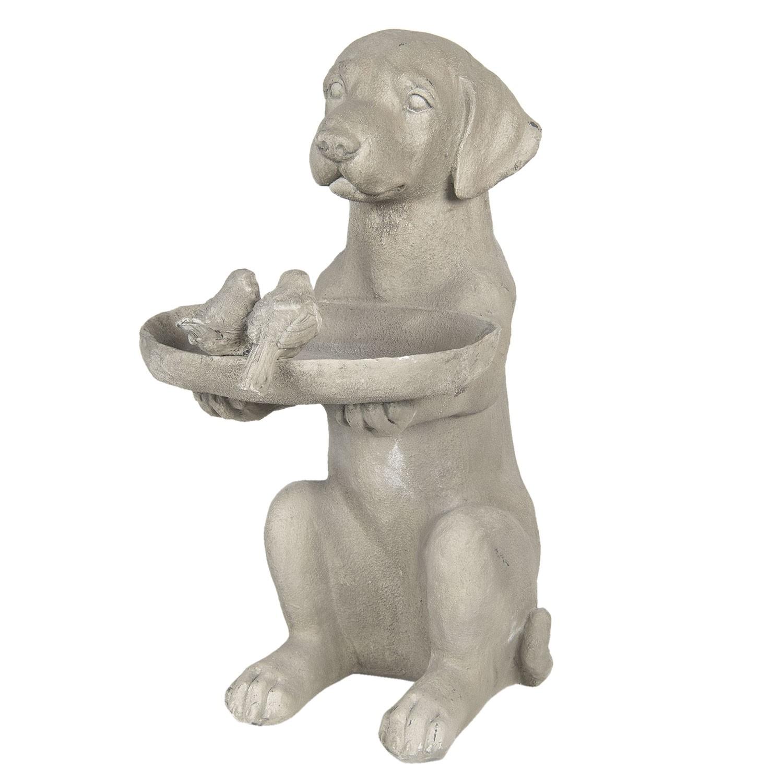 Clayre & Eef Dekorace psa s krmítkem pro ptáčky - 38*26*48 cm