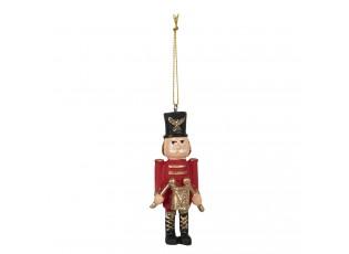 Závěsná vánoční dekorace Louskáček - 4*2*9 cm