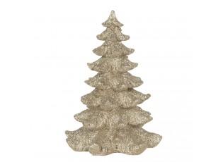 Dekorace vánoční zlatý strom - 15*15*21 cm