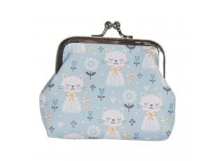 Modrá malá peněženka s kočičkama Kitty - 9*7 cm