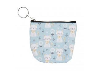Modrá malá peněženka s kočičkama Kitty - 10*8 cm