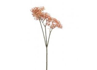 Oranžová dekorační květina - 10*30 cm