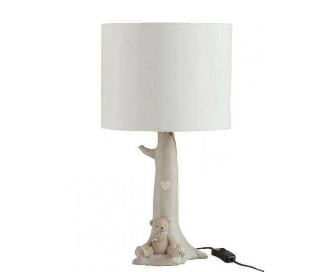 Stolní lampa s textilním stínidlem a medvídkem Bear - Ø 25*46 cm