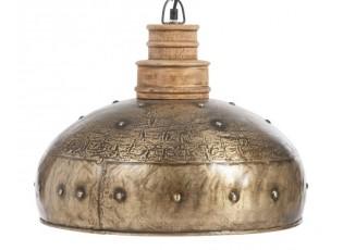 Zlato-hnědé závěsné kovové světlo Antique gold - Ø 41*160 cm /E27