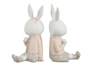 Set 2ks zarážky na knihy s králičí slečnou Rabbi - 10*12*23cm